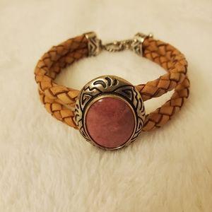 American West Genuine Rhodonite Bracelet